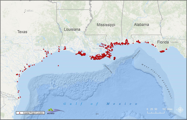 coastal project map
