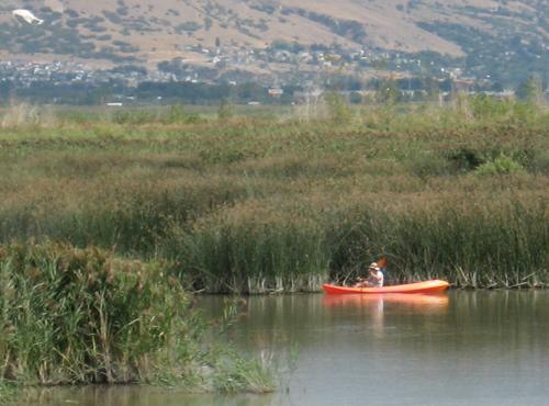 utah lake canoe